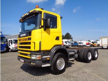 Podvozek s kabinou Scania 124C 420 + Manual + Retarder + 6x4