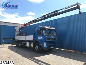 Volvo FM 360 6x4, Fassi crane, Manual, Steel suspension, Airco, Remote control - valník