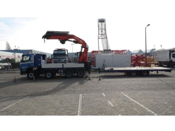 Volvo FM 440 8X4 WITH PM 68 S CRANE IN COMBI WITH DINKEL FLATBED TRAILER - nákladní auto