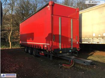 Schmitz 3-axle curtain side drawbar trailer ZSC 24 - plachtový přívěs